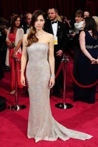 Jessica-Biel rochie eleganta cu trena