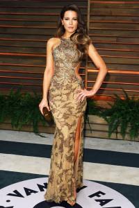 Kate-Beckinsale rochie eleganta cu slit adanc