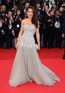 Salma-Hayek-wore-strapless-gray-Gucci-Premiere-gown-2011