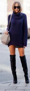 cizme peste genunchi si rochia pulover 2