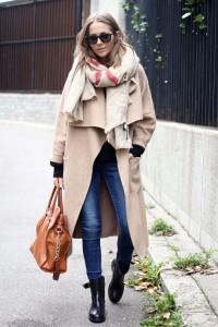 palton esarfa supradimensionata
