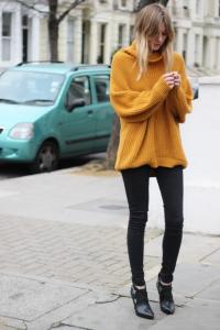 pulover supradimensioant pantaloni skinny 4