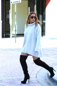 pulover supradimensionat cizme peste genunchi 2