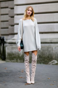 pulover supradimensionat cizme peste genunchi 3