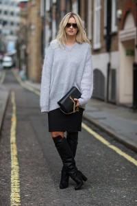 pulover supradimensionat cizme peste genunchi 4