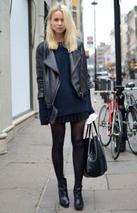 pulover supradimensionat fusta mini