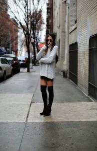 pulover supradimensionat fusta mini 5