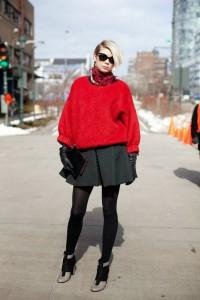 pulover supradimensionat fusta mini4