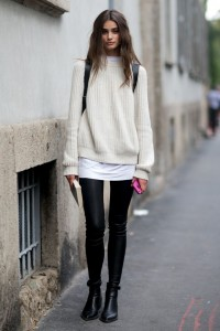pulover supradimensionat leggings (2)