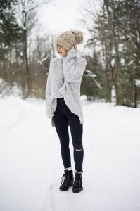 pulover supradimensionat  pantaloni skinny 3