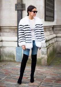 ochelari de soare cu haina de blana 1