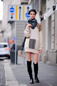 Model Off Duty Manon Leloup  MFW, Street Style Fashion SS15