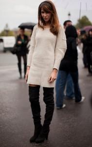 rochie tricotata cizme peste genunchi 4