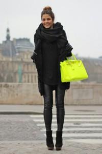 tinuta neagra geanta colorata 3