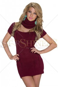 Pulover Warm Figure Burgundy