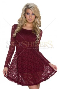 Rochie Vibrating Offer Burgundy