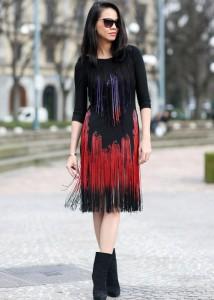 rochia cu franjuri