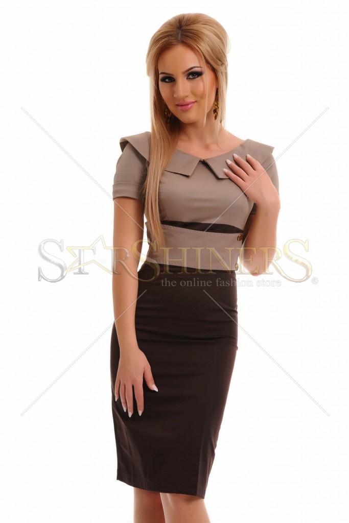 Rochie PrettyGirl Perfect Attitude Brown