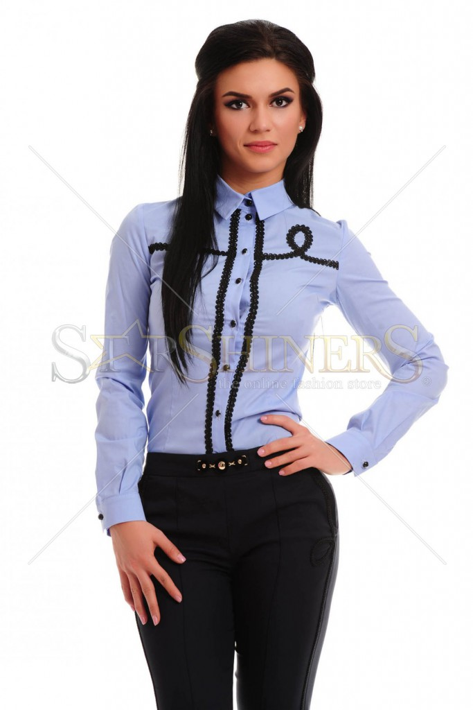 Camasa LaDonna Special Circles Blue