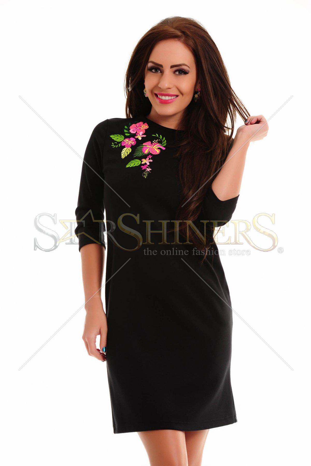 Rochie StarShinerS Brodata Exotic Black