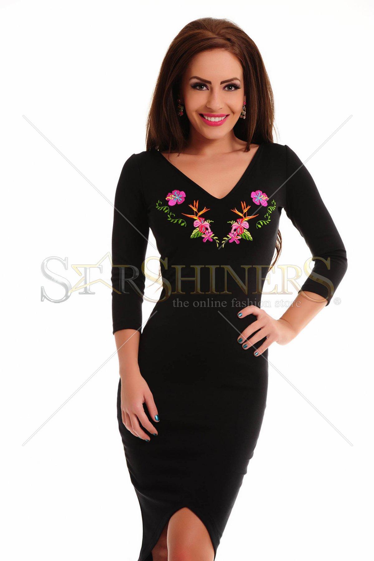 Rochie StarShinerS Brodata Paradise Black