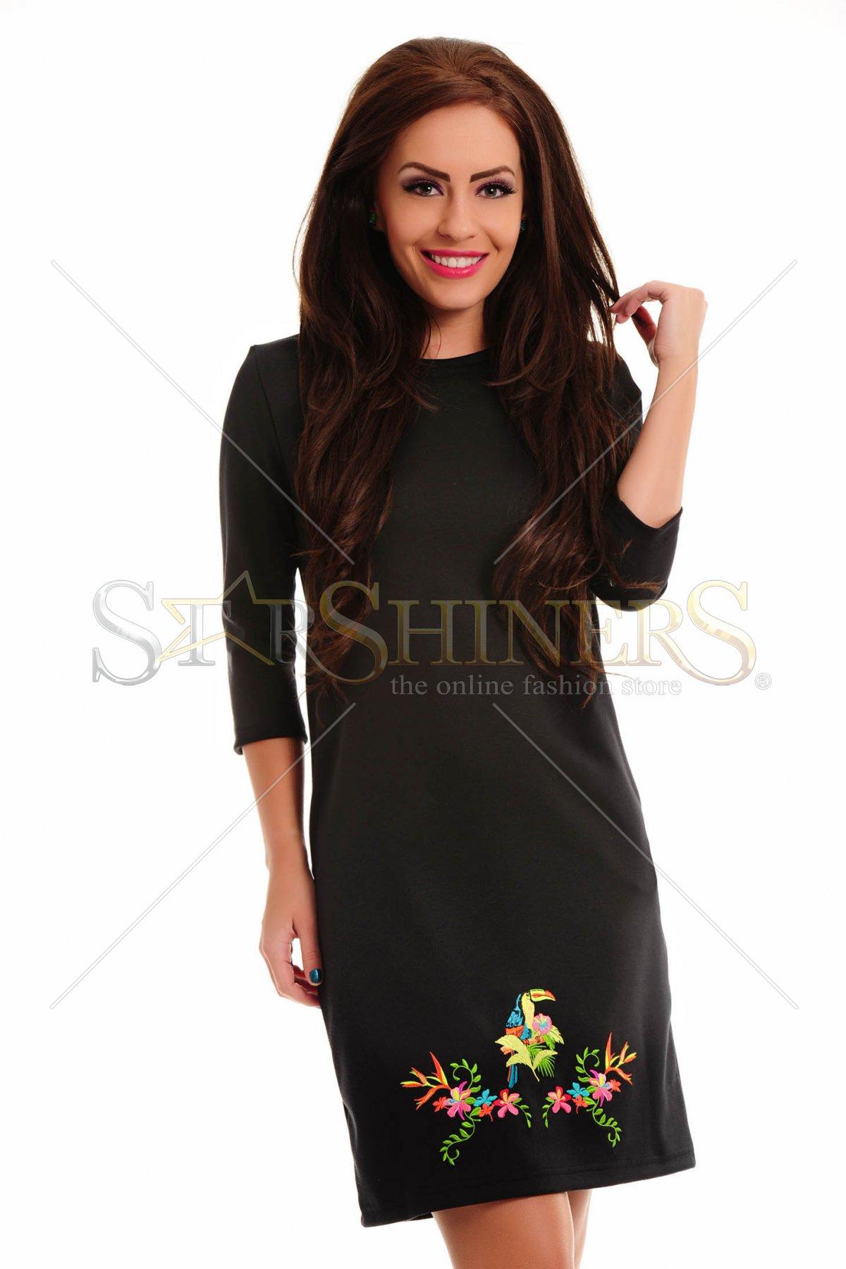 Rochie StarShinerS Brodata Safari Black