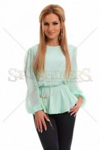 Bluza LaDonna Glossy Rupture Turquoise