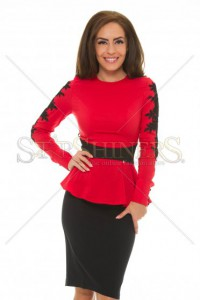 Camasa LaDonna Frosty Elegance Red