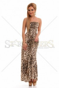 Rochie MissQ Orderly Sketch Brown