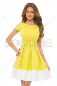 Rochie PrettyGirl Susceptible Yellow