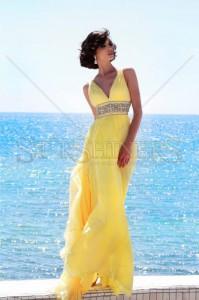 Rochie Sherri Hill 11189 Yellow