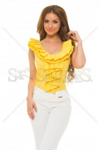 Top PrettyGirl Frilled Yellow