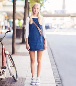 rochia din denim sport 2