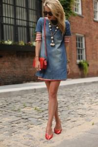 rochia din denim tinuta feminina