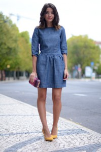rochia din denim tinuta feminina 4