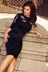 Rochie StarShinerS Brodata Oasis Black