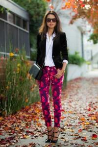 pantaloni imprimeu smart casual 2