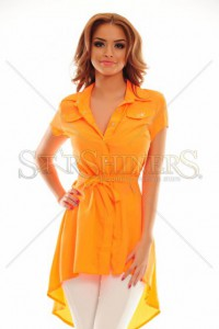 Camasa MissQ Straight Style Orange