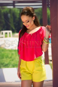 Pantaloni Scurti PrettyGirl Touchy Yellow