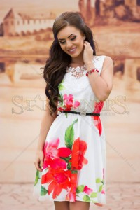 Rochie LaDonna Flowers Delight Red