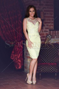 Rochie LaDonna Strong Date Yellow