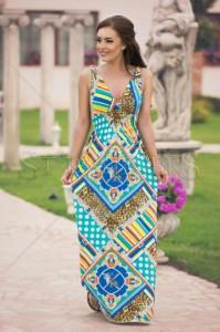 Rochie MissQ Rich Print Blue