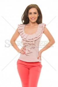 Top PrettyGirl Frilled Rosa
