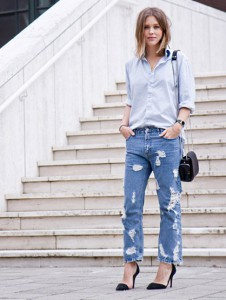 baggy jeans tinuta office