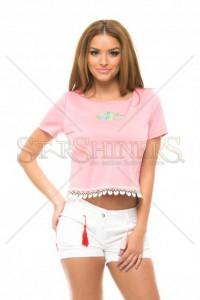 Bluza StarShinerS Brodata Lovable Rosa