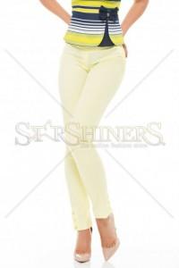 Pantaloni Fofy Ankle Buttons Yellow