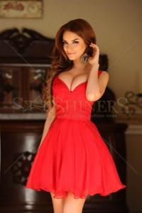 Rochie Artista Charming Waist Red