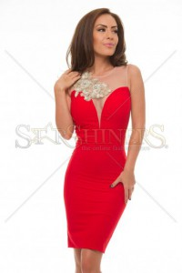 Rochie LaDonna Bright Lounge Red