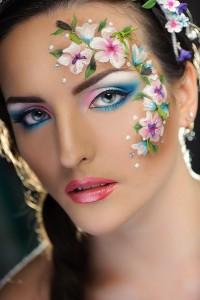 machiaj fantezie flori 2