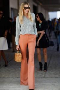 pantaloni evazati office style 3